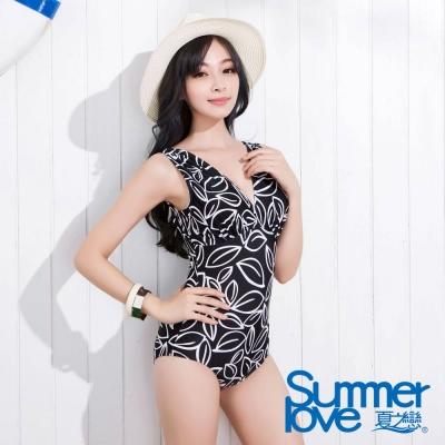 SUMMERLOVE 夏之戀 時尚款魅惑連身三角泳衣