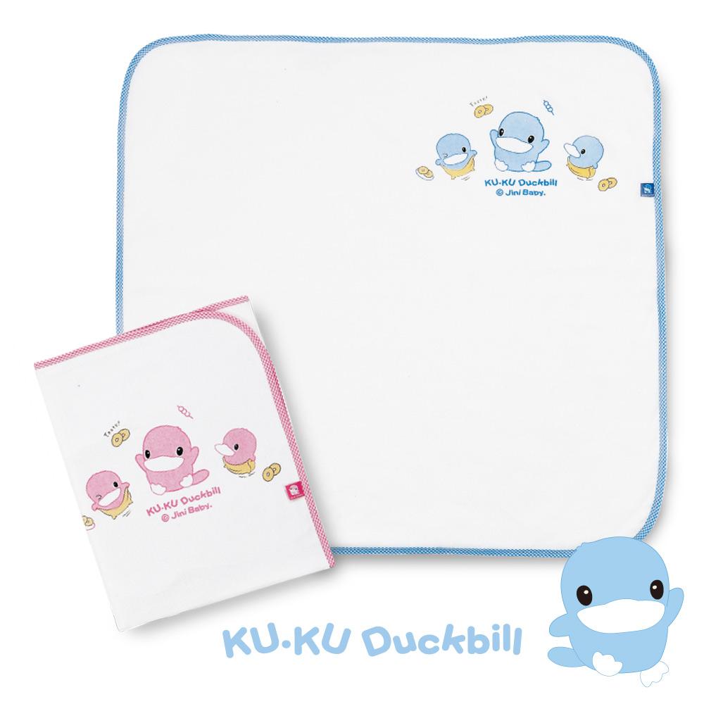 KU.KU酷咕鴨-紗布毛巾浴巾-藍