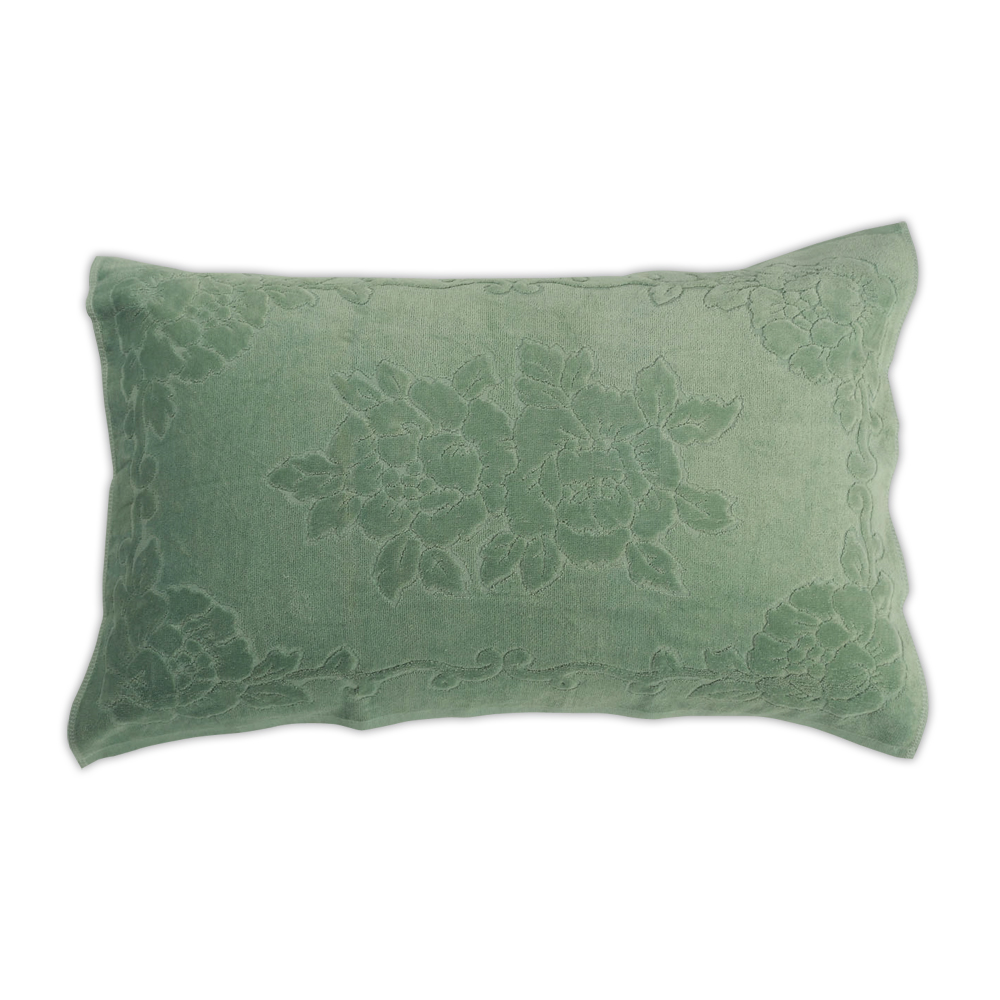《HOYA active》超柔細純棉壓紋枕巾(2入) 9.淺墨綠