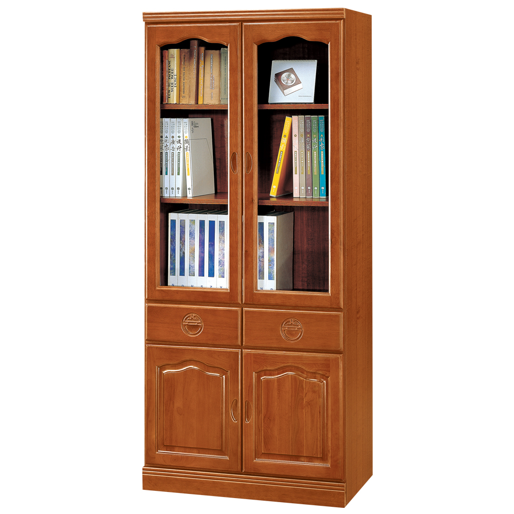 時尚屋 正樟木3x6尺中抽書櫃 寬80.3cm
