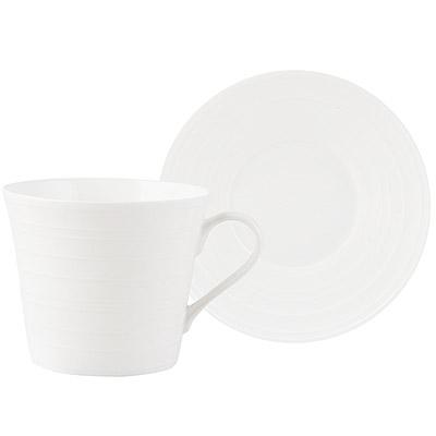 《CreativeTops》Mikasa漣漪骨瓷杯碟組(350ml)