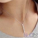 N.C21-簡約時尚設計垂墜項鍊 (銀色)