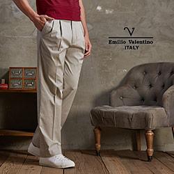 Emilio Valentino-范倫鐵諾休閒長褲_淺卡其(30-5A7522)