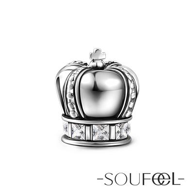 SOUFEEL索菲爾 925純銀珠飾 皇冠 串珠