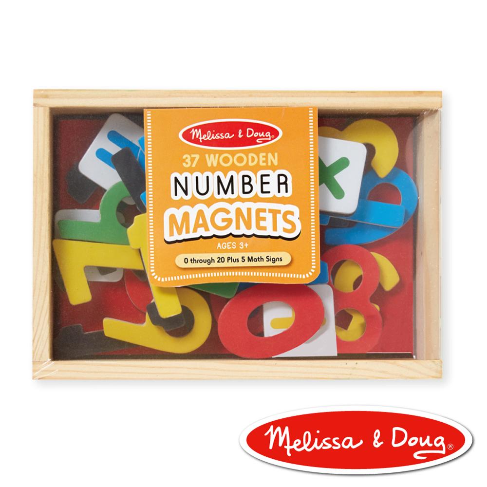 美國瑪莉莎 Melissa & Doug 磁力-數學木質磁鐵貼