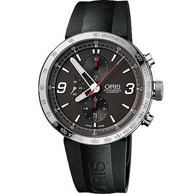 Oris TT1 計時機械腕錶-灰/橡膠45mm