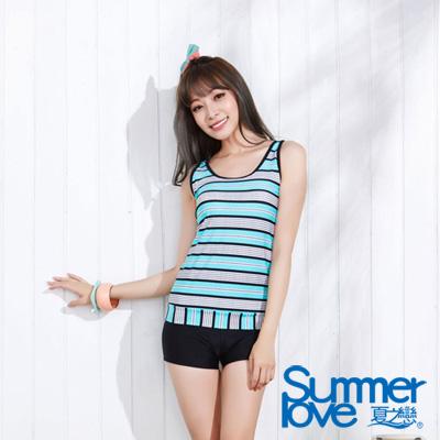 夏之戀SUMMER LOVE 淑女風長版兩件式泳衣 大尺碼