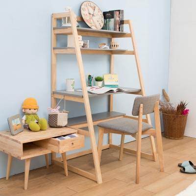 諾雅度 原生實木階梯書桌椅組