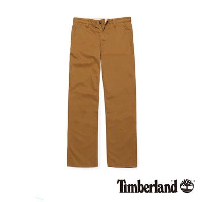 Timberland 男款棕褐色素面直筒休閒長褲