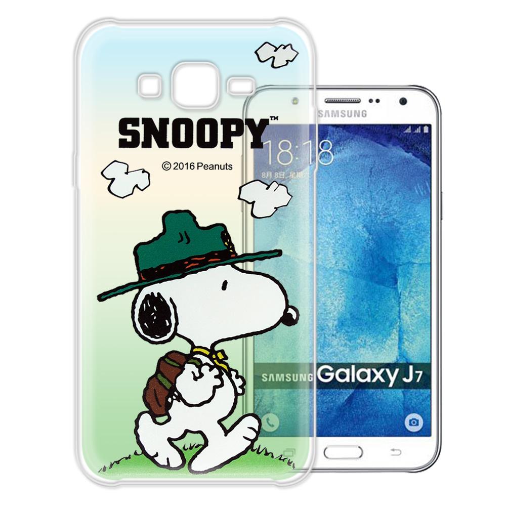 史努比 / SNOOPY Samsung Galaxy J7 漸層彩繪軟式手機殼(郊遊)