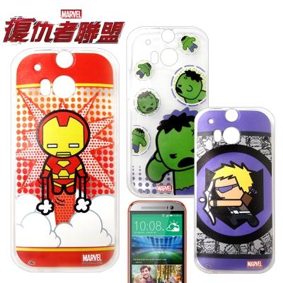 復仇者聯盟 HTC One M8 Q版彩繪手機軟殼(英雄款)