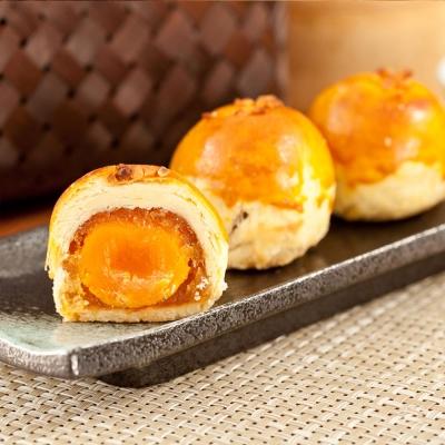 預購-樂活e棧-冬瓜鳳梨蛋黃酥禮盒5顆盒共1盒-蛋奶素