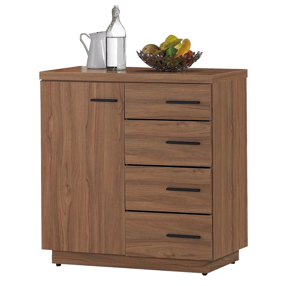 愛比家具 堤比2.7尺柚木色餐櫃下座