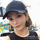 A-Surpriz 潮系別針環圈棒球帽(黑)