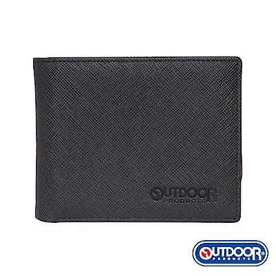 OUTDOOR-TRENDY品味時尚系列-活動票卡短夾-黑-ODS17C02BK