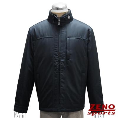 ZENO-簡約設計厚暖精品外套-黑色M-XL