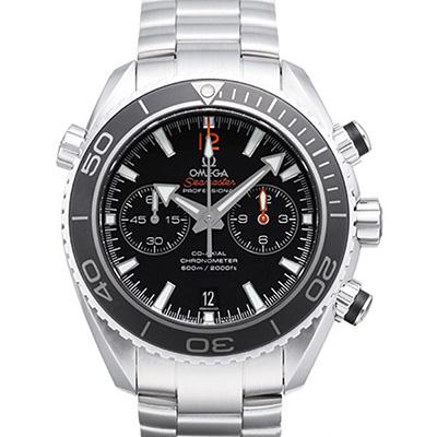 OMEGA 歐米茄 海馬 Planet Ocean 600米計時腕錶-黑x紅字/45.5mm