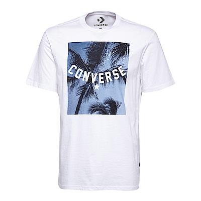 CONVERSE-男休閒短T恤10005906-A01-白