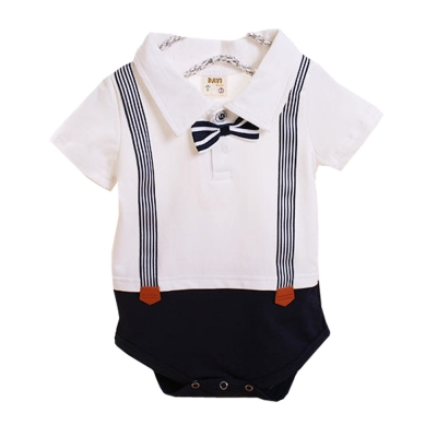 紳士造型短袖連身衣-k50266