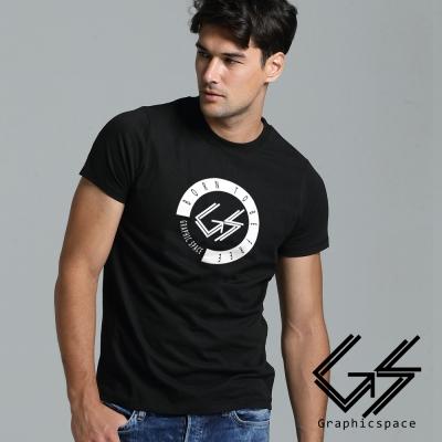 天生自由白底印花磨毛水洗T恤 (黑色)-GraphicSpace