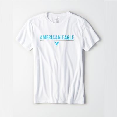AEO 美國老鷹 經典標誌老鷹印刷短袖T恤-白色 Amercan Eagle