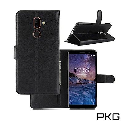 PKG Nokia7 Plus 側翻式皮套-經典系列-黑