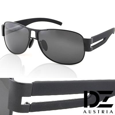 【2件59折】DZ 尊爵雅士 抗UV 偏光太陽眼鏡墨鏡(黑框灰片)