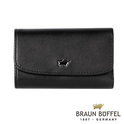 BRAUN-BUFFEL-HANS漢斯系列鎖圈鑰匙包-經典黑