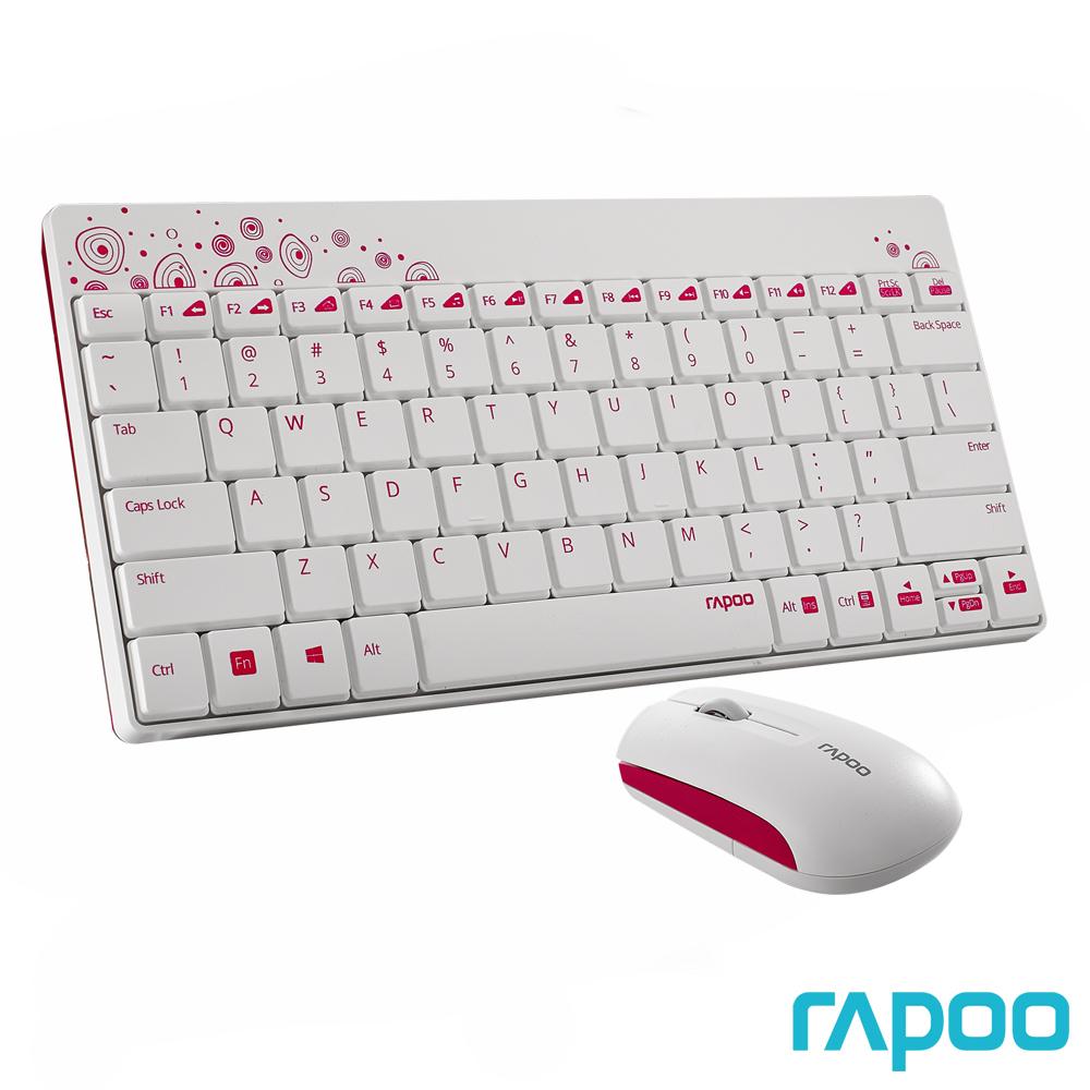 Rapoo 雷柏8000 無線光學鍵鼠組-白