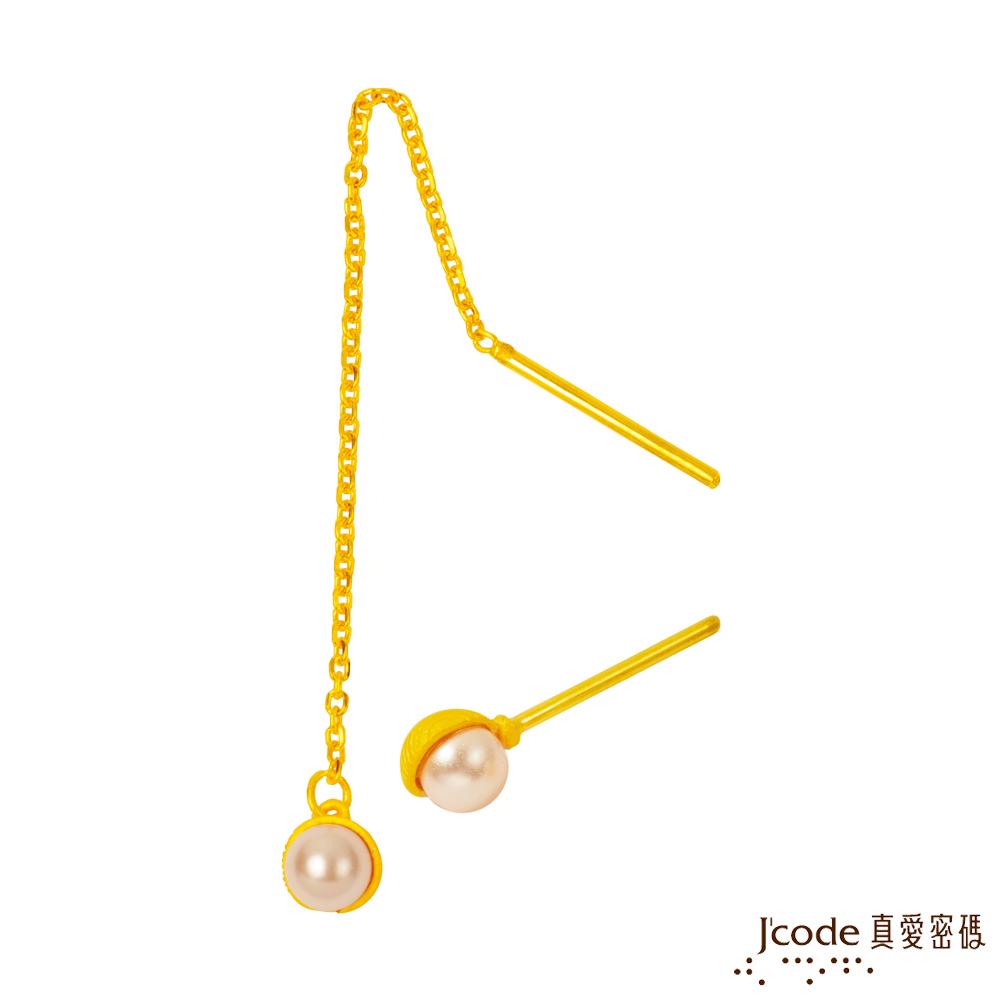 J'code真愛密碼 曖昧黃金/水晶耳環