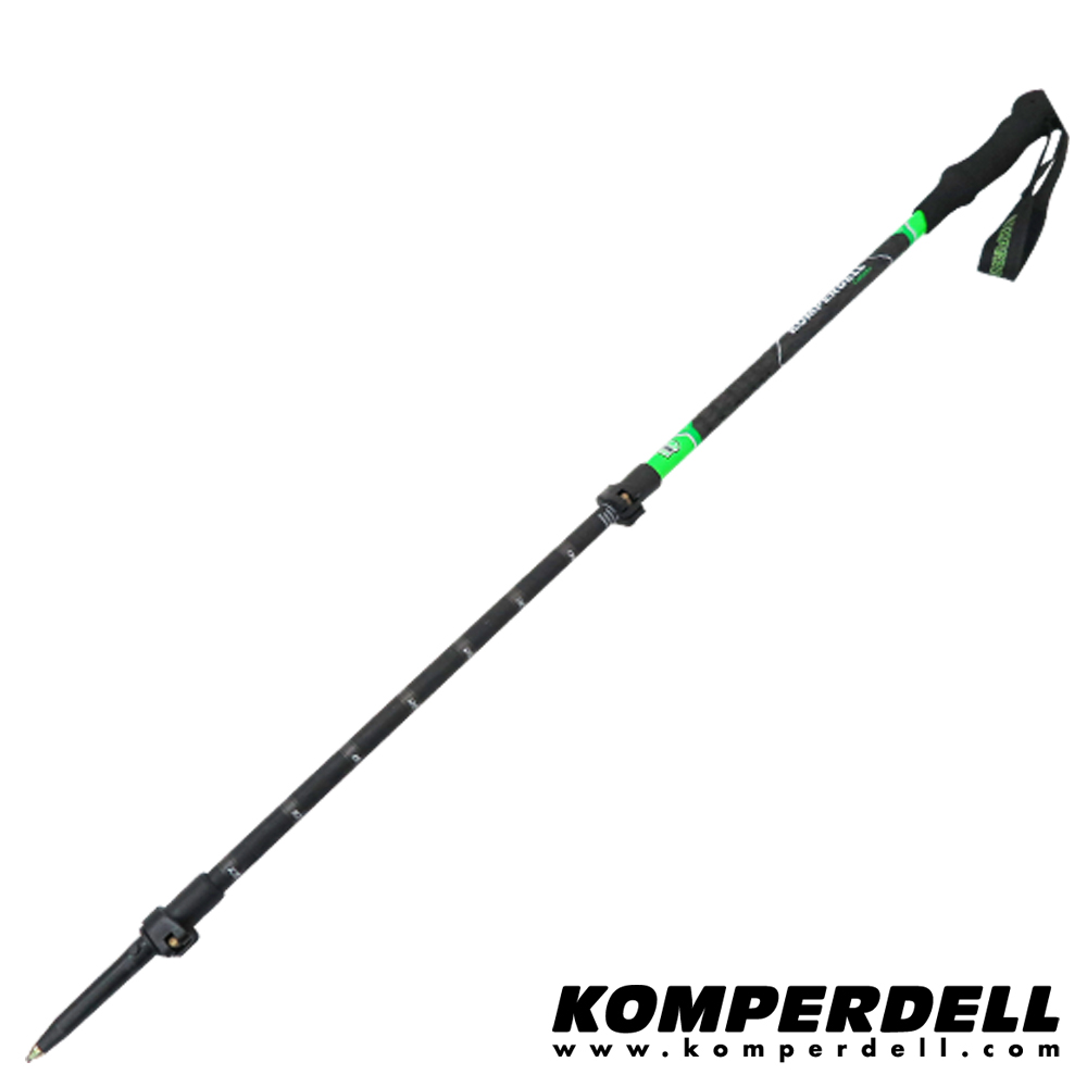 KOMPERDELL C3 Carbon Power Lock 強力鎖定登山杖(單支)
