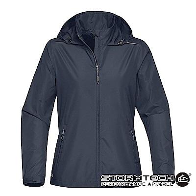 【加拿大STORMTECH】KX-1W超輕量防潑透氣連帽外套-女-深藍