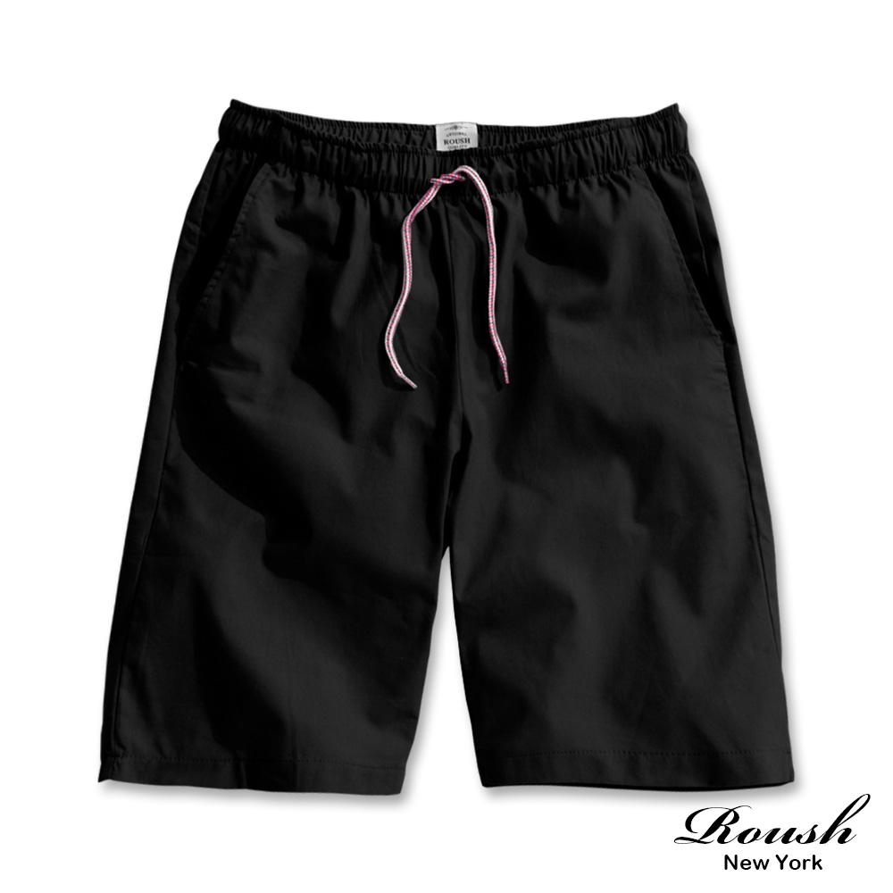 Roush 抽繩造型棉麻水洗短褲(2色)