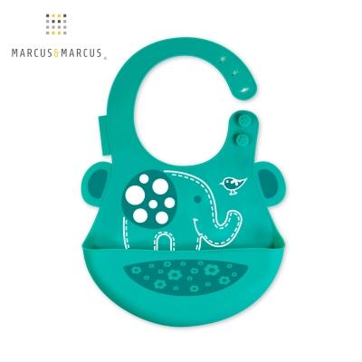 加拿大 MARCUS&MARCUS 動物樂園矽膠立體圍兜(大象)