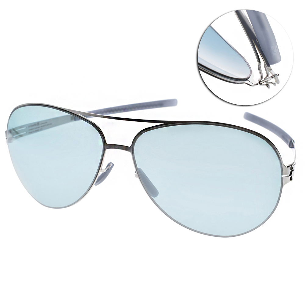 ic!berlin太陽眼鏡 薄鋼代表作/銀-藍鏡片#RAF S. CHROME