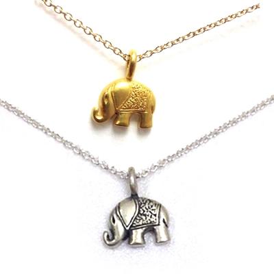 Dogeared 大象 Happy elephant 好運健康 金色銀色項鍊套組 附原廠盒