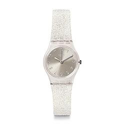 Swatch 就是SWATCH SILVER GLISTAR TOO 銀色星沙手錶