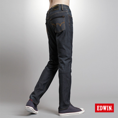 EDWIN-簡約崇尚-W-F-PREMIuM中直筒保溫褲-男款-酵洗藍