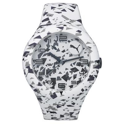 PUMA  動感延伸運動腕錶-白X黑/51mm