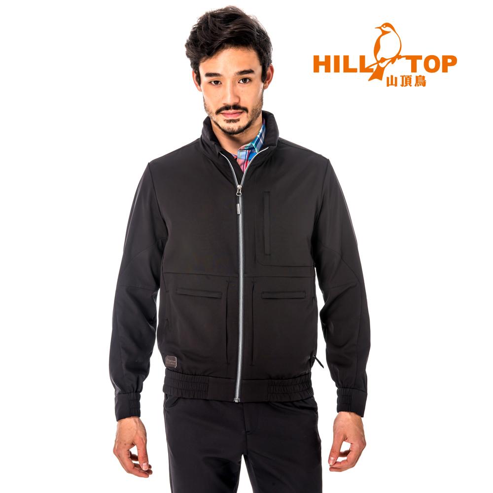 【hilltop山頂鳥】男款超輕量超潑水外套S02M92-瑪瑙黑