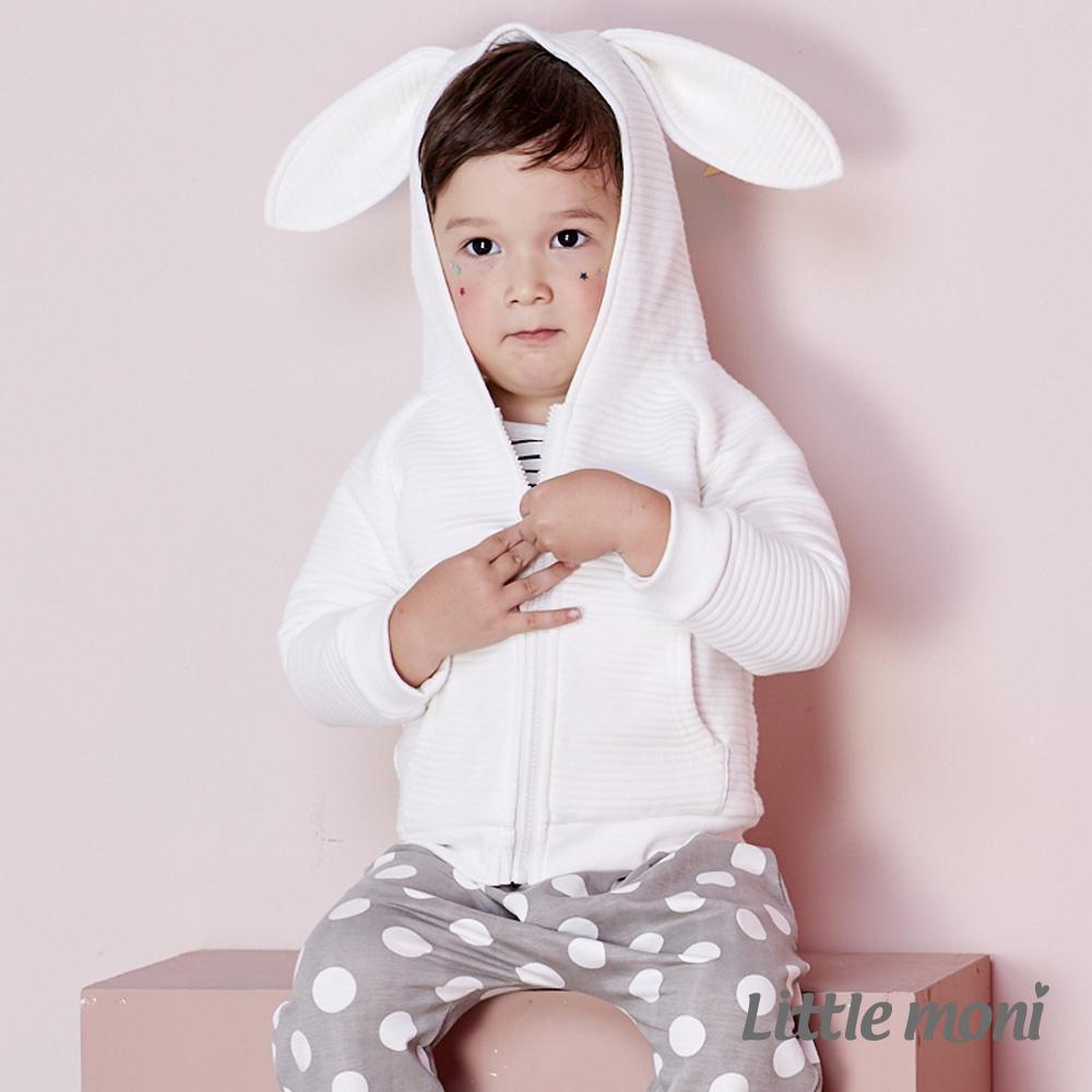Little moni 兔耳連帽外套 (共3色)