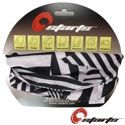 《OSTARTS》百變頭巾 1169 黑白幾何