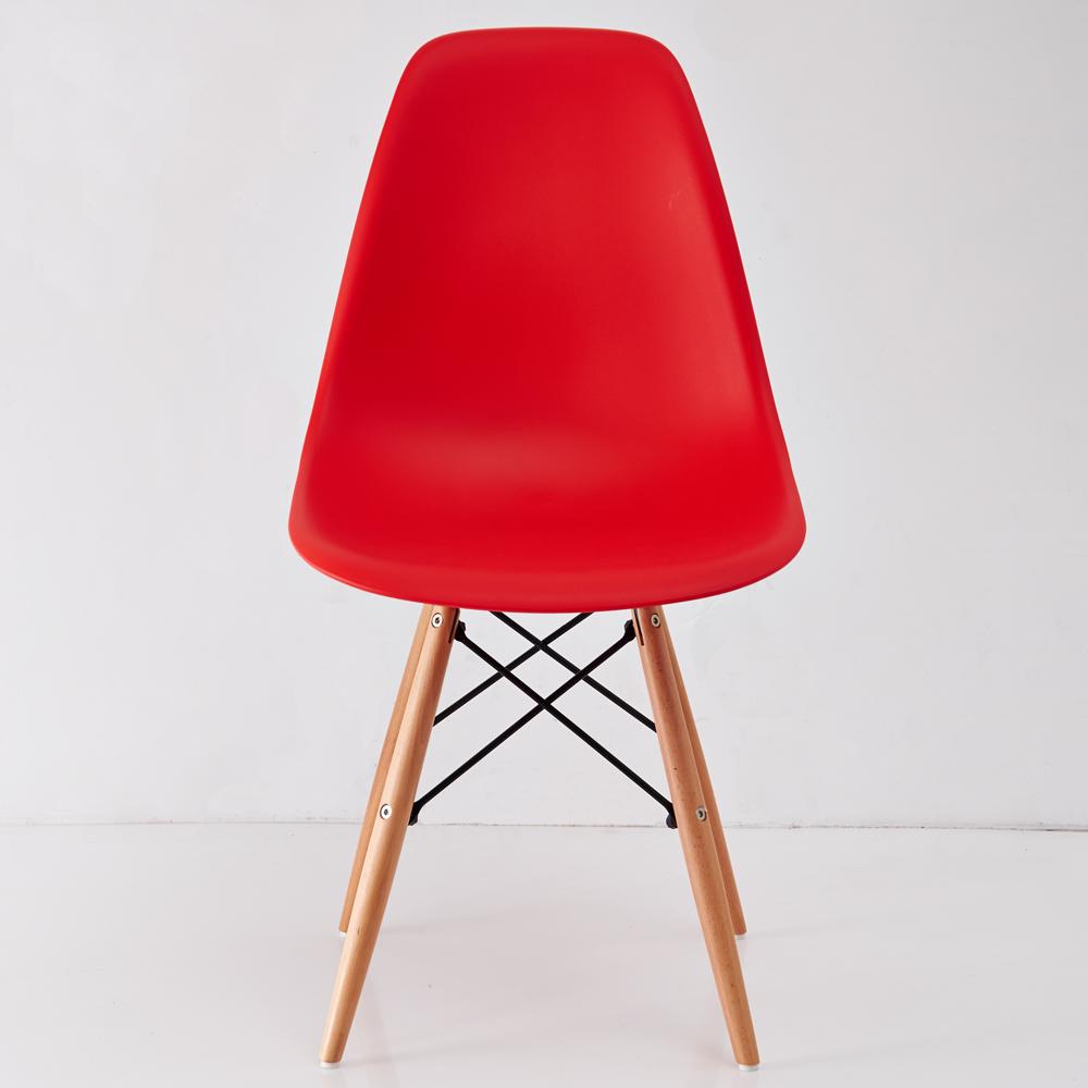 創樂家居 復刻版一體成型造型辦公椅-紅色-DIY