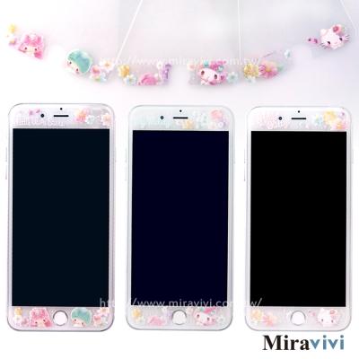 三麗鷗iPhone 6/6s/7(4.7吋)共用繁花彩繪玻璃保貼