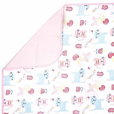 Baby unicorn 粉紅貓咪多功能防水隔尿墊野餐墊