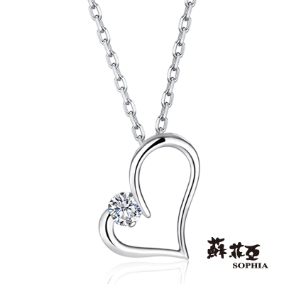 蘇菲亞SOPHIA-鑽鍊-甜心0-15克拉鑽石項鍊
