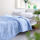 Cozy inn 湛青-淺藍-300織精梳棉-涼被(5X6尺)