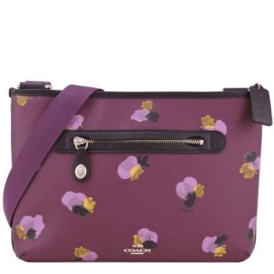 COACH 馬車印花防刮斜背包(玫紫)