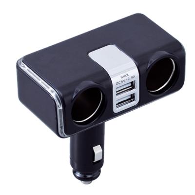SEIWA-2-4A雙孔-2USB可調式電源插座