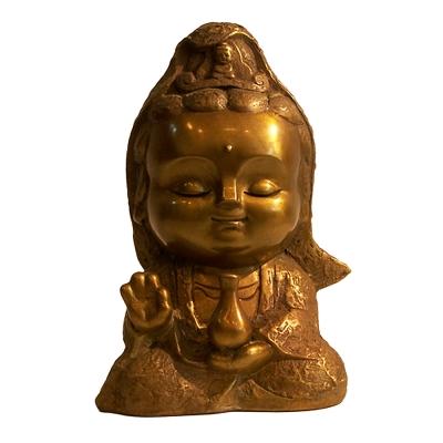 子問老師 限量原作銅雕 Q佛系列-西方三聖/觀音菩薩 子問老師 限量原作銅雕